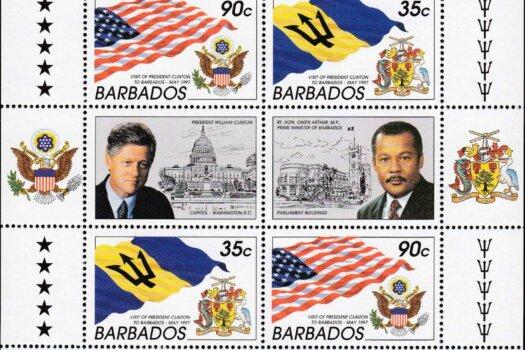 Barbados SGMS1105-06 | Visit of President Clinton to Barbados 1997