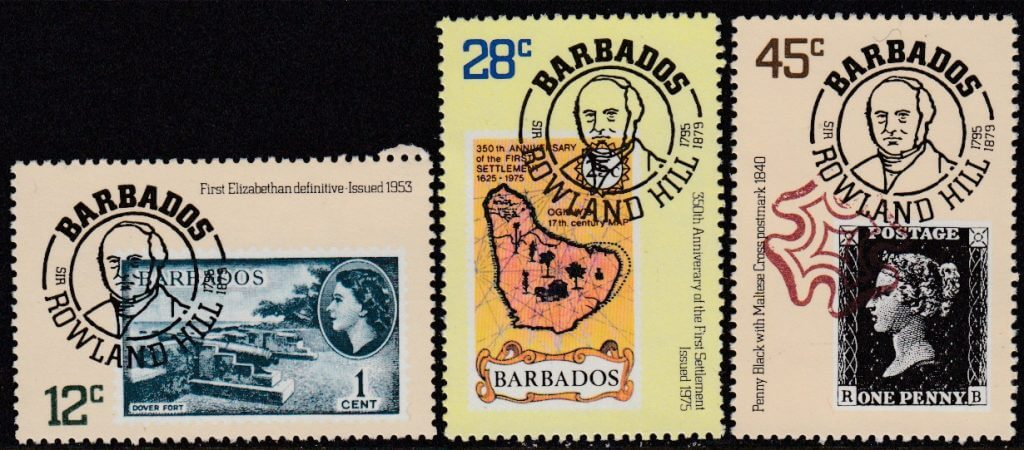 Barbados SG617-619 | Death Centenary of Sir Rowland Hill