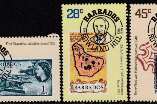 Barbados SG617-619 | Death Centenary of Sir Rowland Hill