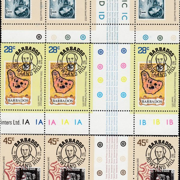 Barbados SG617-619 | Death Centenary of Sir Rowland Hill Gutters and Controls