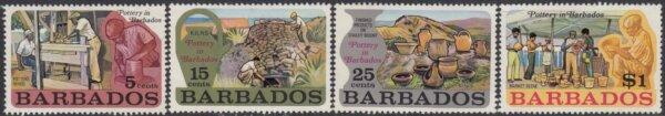 Barbados SG468-471 | Pottery in Barbados