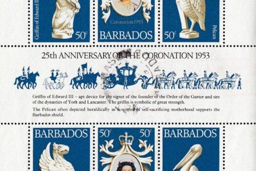 Barbados 597-599 | 25th Anniversary of Coronation
