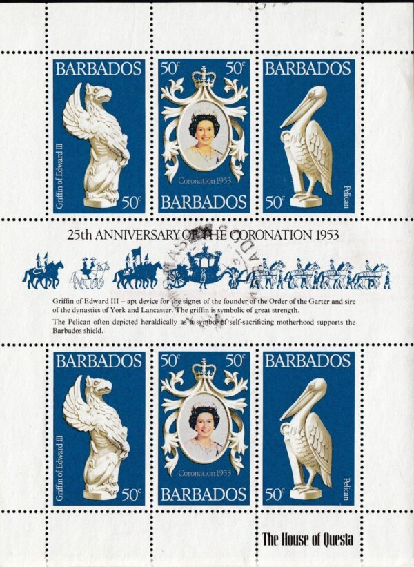 Barbados 597-599 | 25th Anniversary of Coronation
