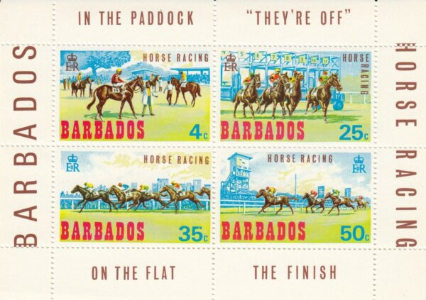 Barbados SGMS385   Horse Racing