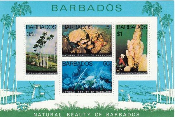 Barbados SGMS581 | Natural Beauty of Barbados minisheet