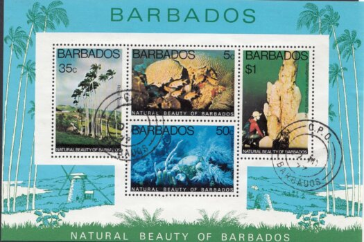 Barbados SGMS581 | Natural Beauty of Barbados minisheet