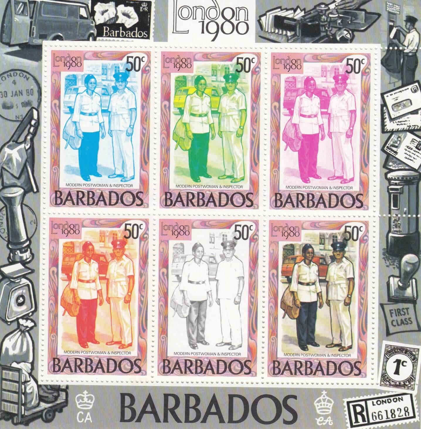 Barbados SGMS659b | London 1980 International Stamp Exhibition