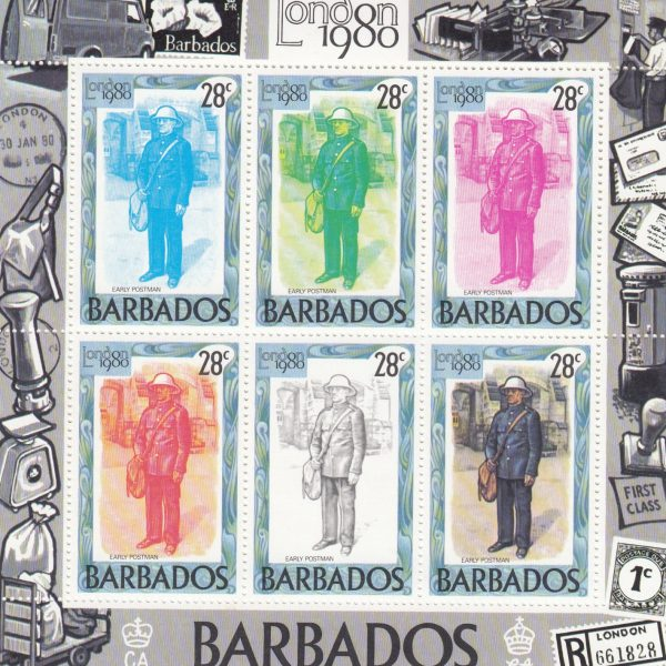 Barbados SGMS659a | London 1980 International Stamp Exhibition