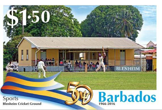 Barbados Stamps 50th Anniversary of Independence $1.50 stamp - Sports