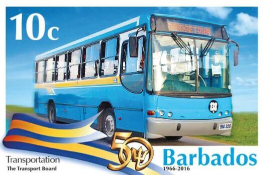 Barbados Stamps 50th Anniversary of Independence 10c stamp - Transportation