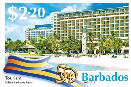 Barbados Stamps 50th Anniversary of Independence $2.20 stamp - Tourism