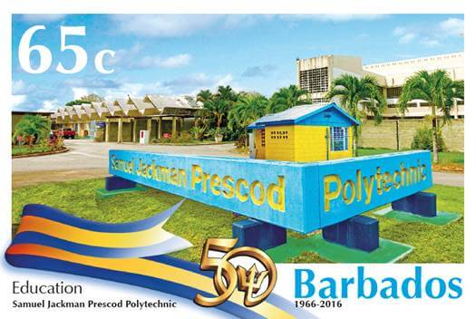 Barbados Stamps 50th Anniversary of Independence 65c stamp - Education