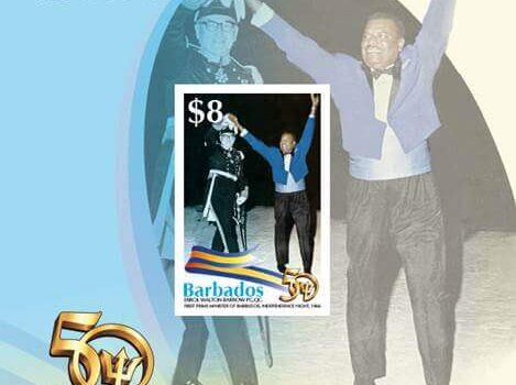Barbados Stamps 50th Anniversary of Independence $8 Mini Sheet
