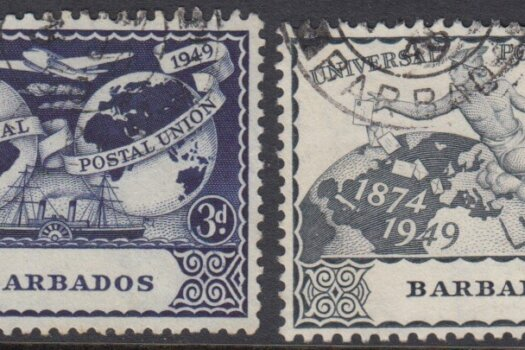 Barbados SG267-270 | 75th Anniversary of Universal Postal Union (UPU) 1949 (Used)