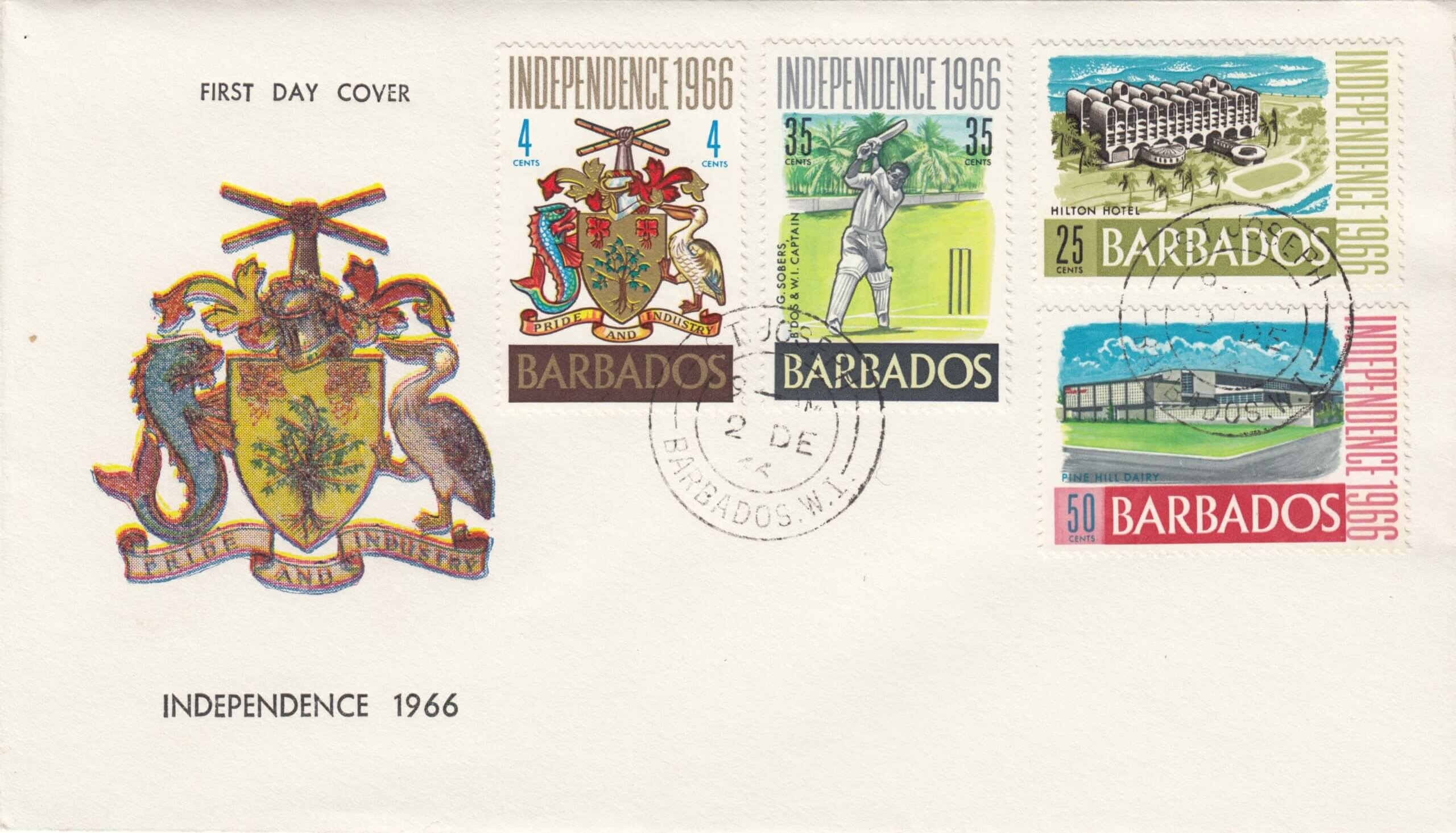 Barbados Independence 1966 FDC