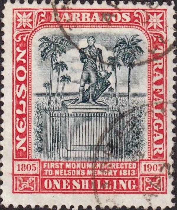 Barbados SG151   Nelson Centenary 1/-