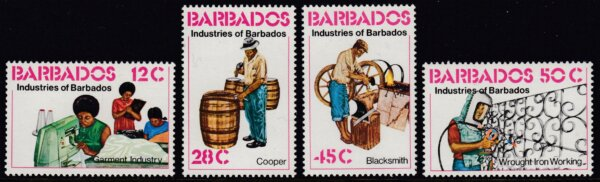 Barbados SG609-612 | Industries of Barbados