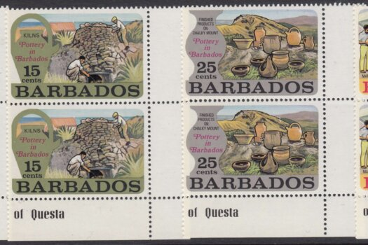Barbados SG468-471 | Pottery in Barbados marginal pairs