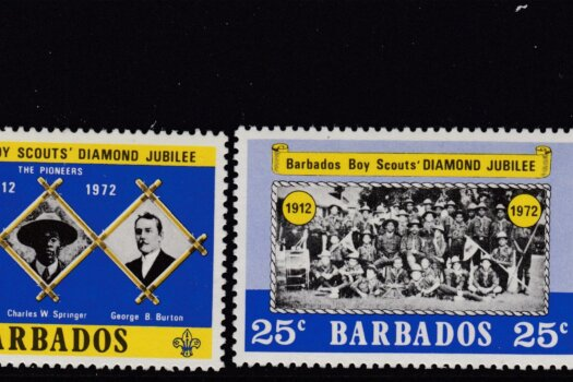 Barbados SG444-447 | Diamond Jubilee of Scouts