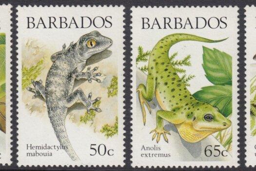 Barbados SG859-862 | Lizards of Barbados