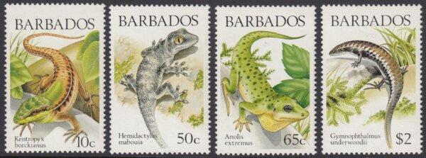 Barbados SG859-862   Lizards of Barbados