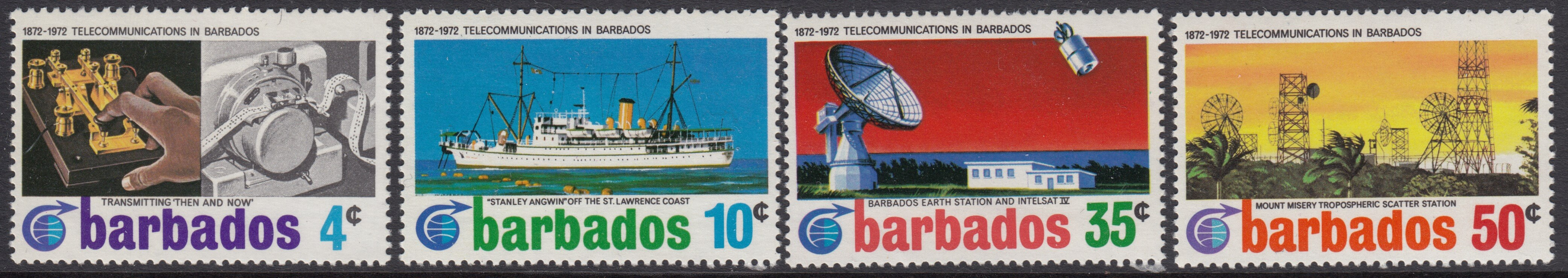 Barbados SG440-443 | Cable Link Centenary