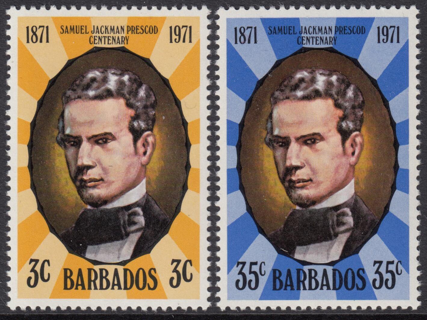 Barbados SG434-435 | Death Centenary of Samuel Jackman Prescod