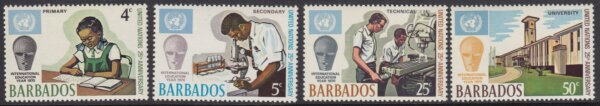 Barbados SG415-418 | 25th Anniversary of United Nations