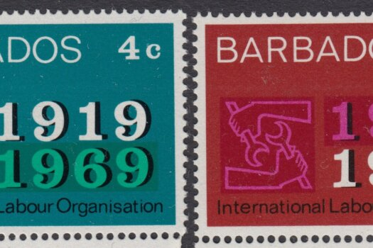 Barbados SG390-391 | 50th Anniversary of International Labour Organisation