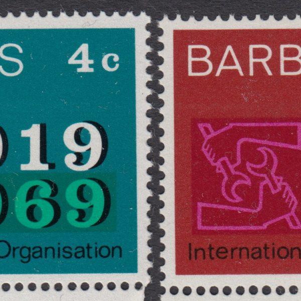 Barbados SG390-391 | 50th Anniversary of International Labour Organisation