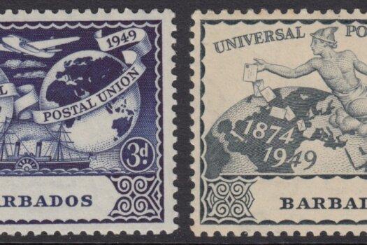 Barbados SG267-270 | 75th Anniversary of Universal Postal Union (UPU) 1949