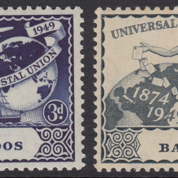 Barbados SG267-270   75th Anniversary of Universal Postal Union (UPU) 1949