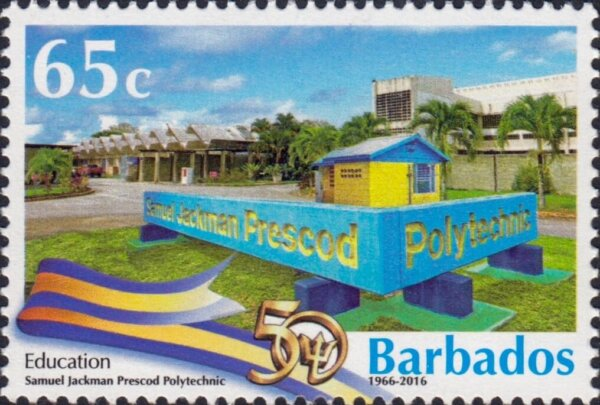 Barbados Stamps 50th Anniversary of Independence 65c stamp – Education