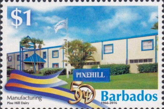 Barbados Stamps 50th Anniversary of Independence $1.00 stamp – Manufacturing