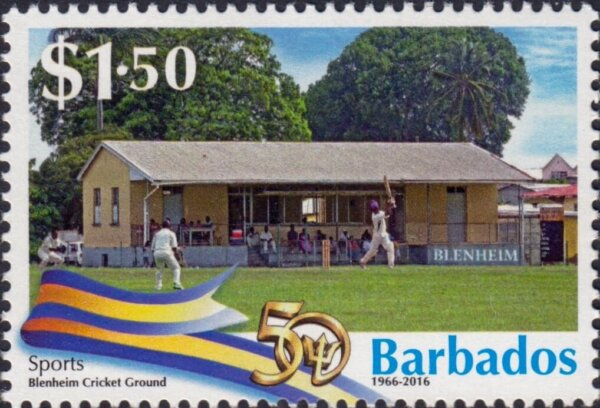 Barbados Stamps 50th Anniversary of Independence $1.50 stamp – Sports