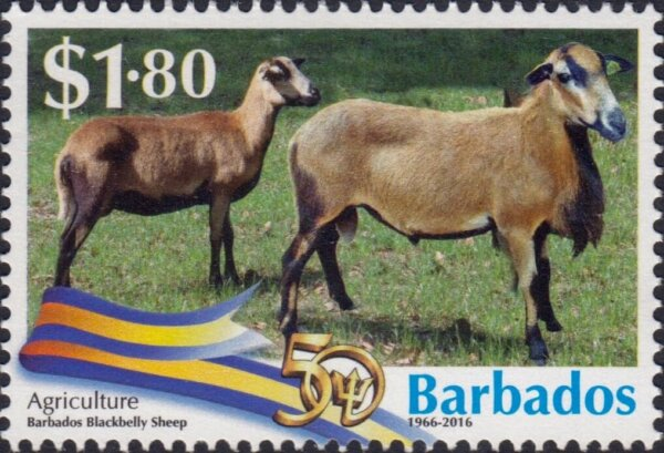 Barbados Stamps 50th Anniversary of Independence $1.80 stamp – Agriculture