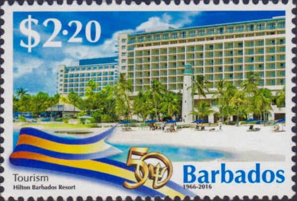 Barbados Stamps 50th Anniversary of Independence $2.20 stamp – Tourism