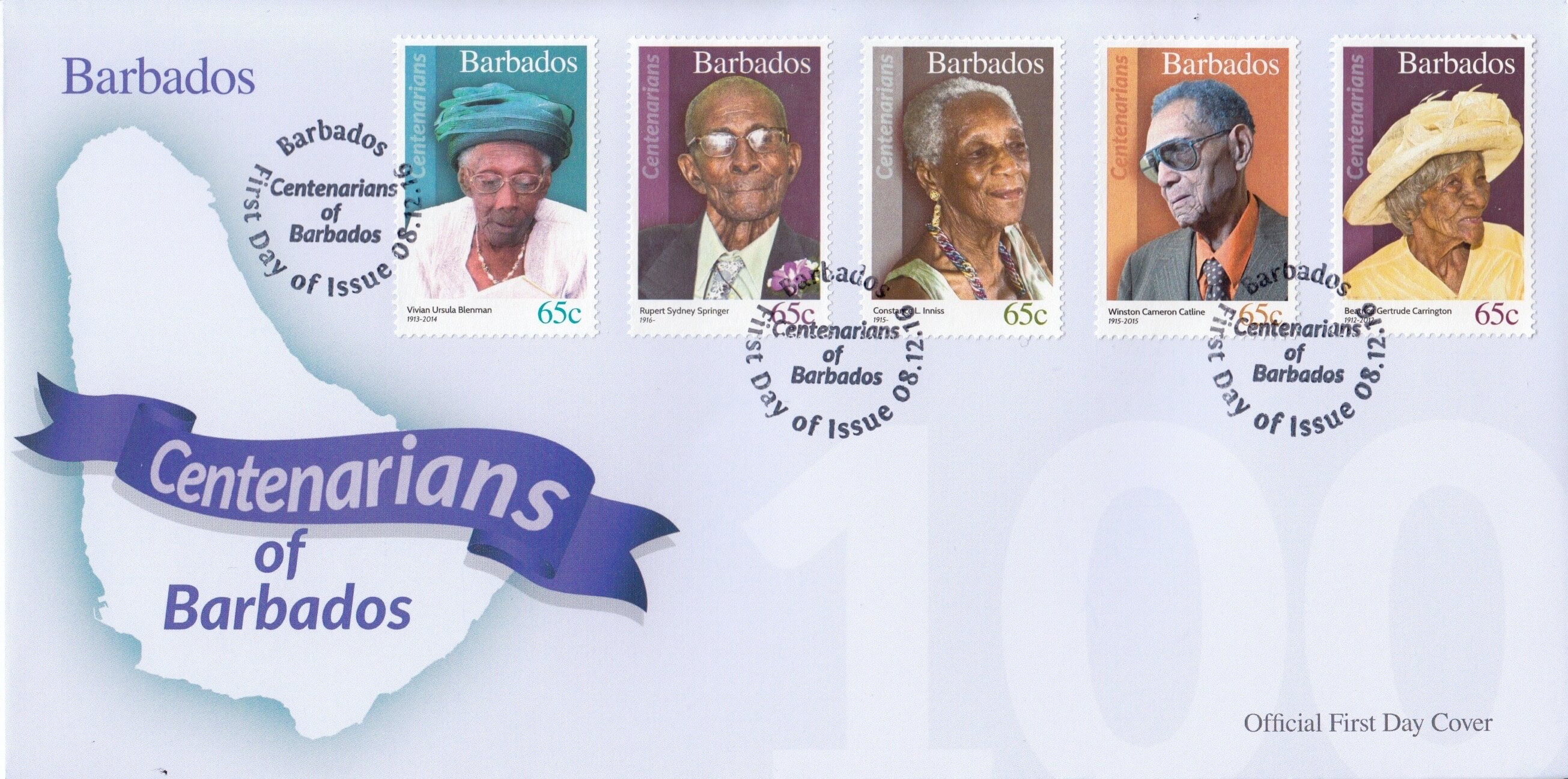 Centenarians of Barbados First Day Cover 1