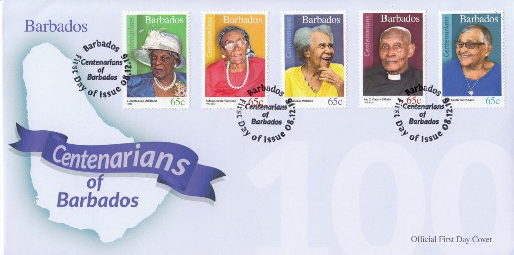 Centenarians of Barbados First Day Cover 2
