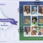Centenarians of Barbados Souvenir Sheet First Day Cover