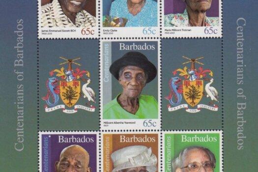 Centenarians of Barbados Souvenir Sheet