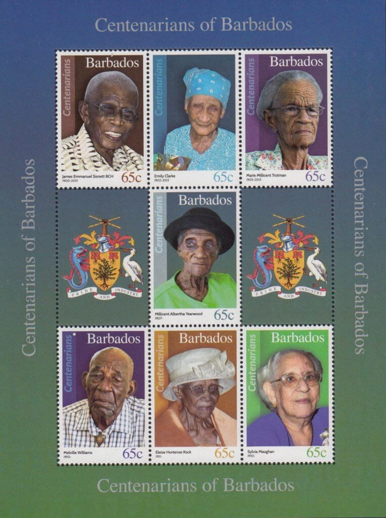 Centenarians of Barbados Souvenir Sheet