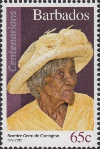 Barbados 65c Stamp – Beatrice Gertrude Carrington
