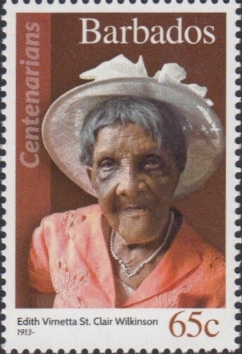 Barbados 65c Stamp – Edith Vimetta St. Clair Wilkinson
