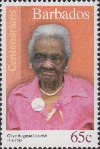 Barbados 65c Stamp – Olive Augusta Licorish