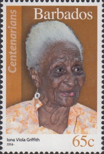 Barbados 65c Stamp – Iona Viola Griffith
