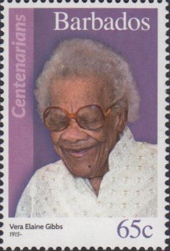 Barbados 65c Stamp – Vera Elaine Gibbs