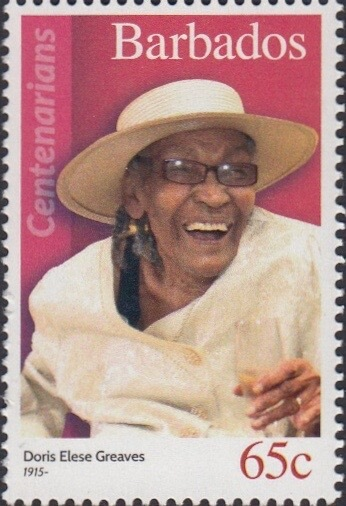 Barbados 65c Stamp – Doris Elese Greaves