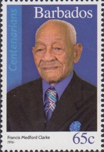 Barbados Centenarians - Barbados Stamps 65c - Francis Medford Clarke