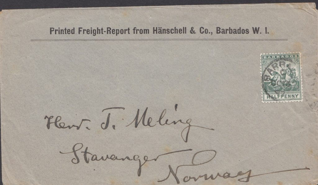 Printed Matter rate to Stavanger, Norway from Barbados